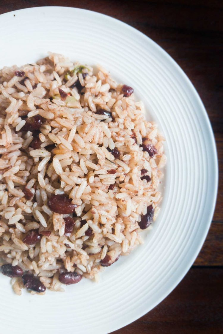 Caribbean rice and beans with coconut are more common in southern Costa Rica than gallo pinto.