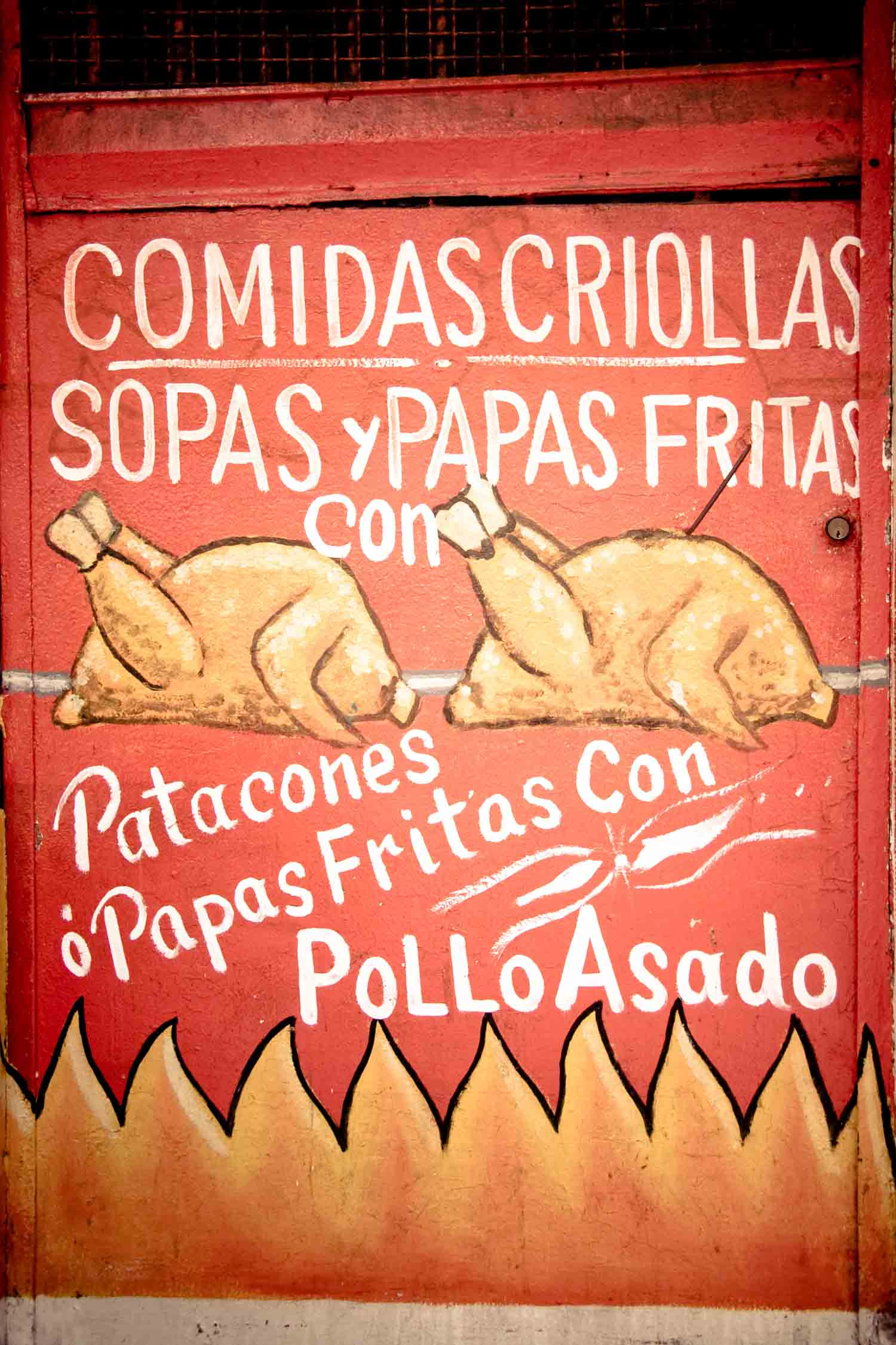 Panamanian food includes lots of street options and fast food like pollo asado.
