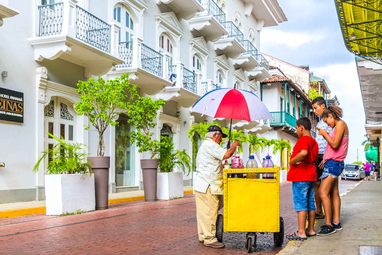 Panama desserts include this street food ice cream.