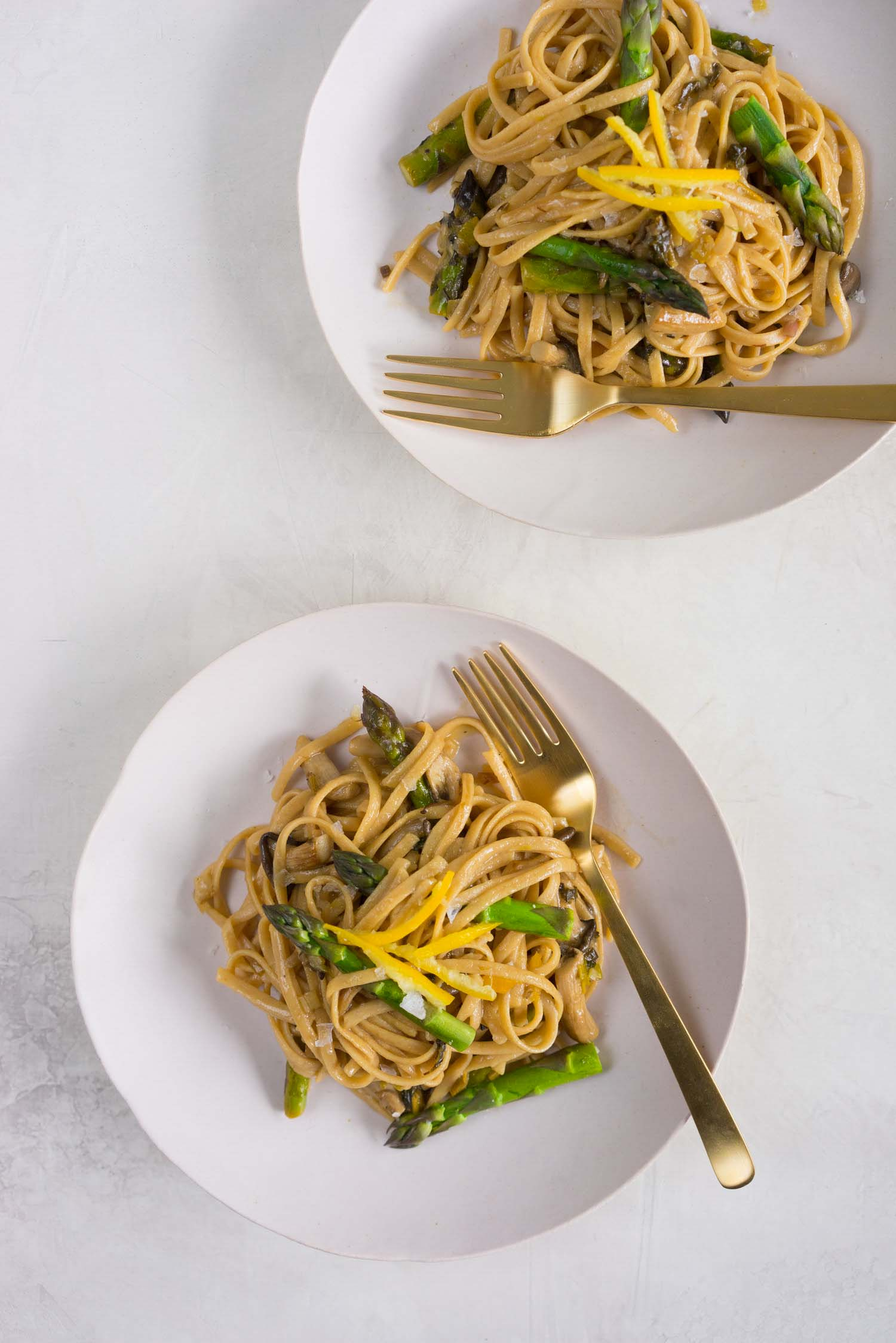 Ramps recipes for pasta with mushroom and preserved lemon