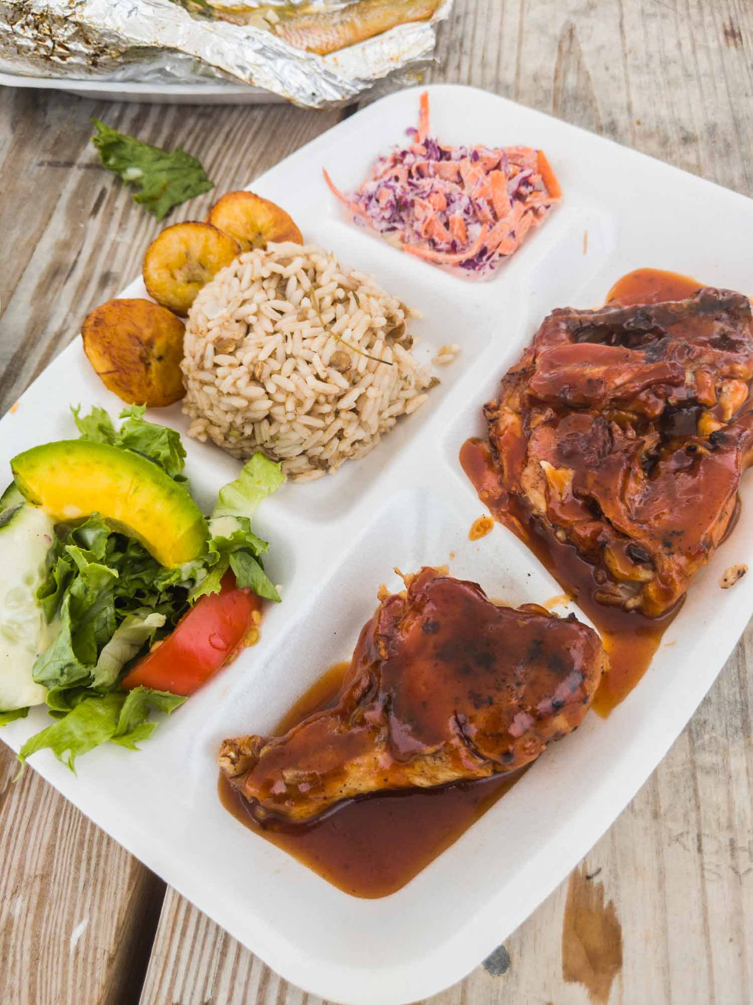 Barbecue chicken from Sunshine Shack in Anguilla