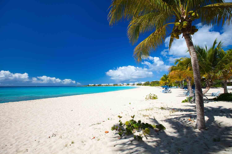 Caribbean beach on Anguilla island