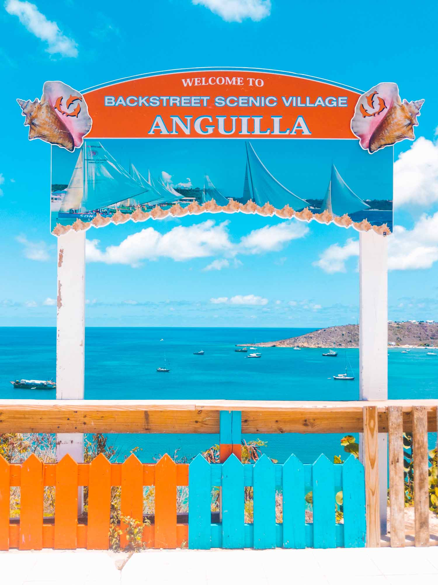 Anguilla island scenic view overlooking Sandy Ground