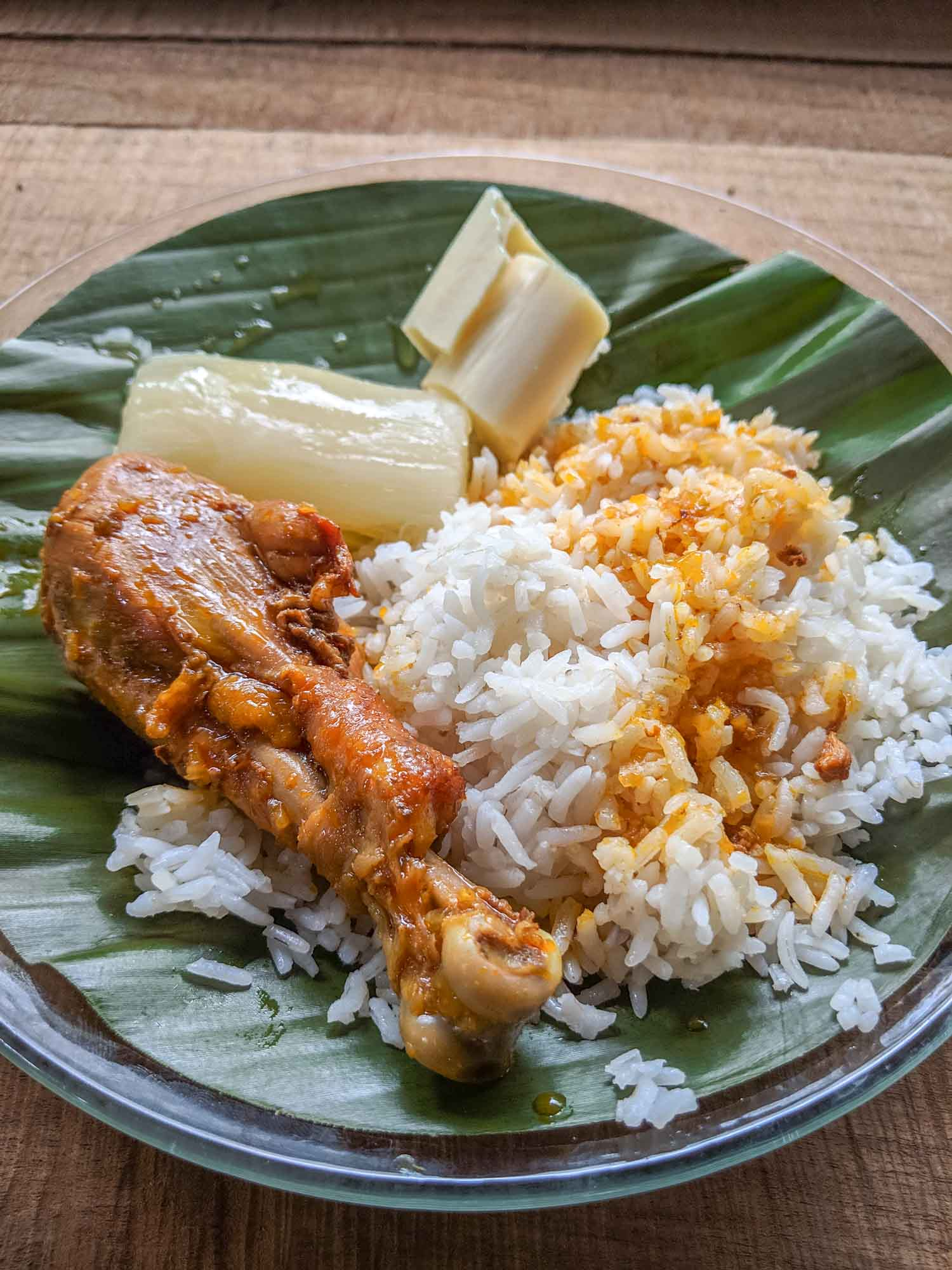 Arroz con pollo or chicken and rice in Costa Rica