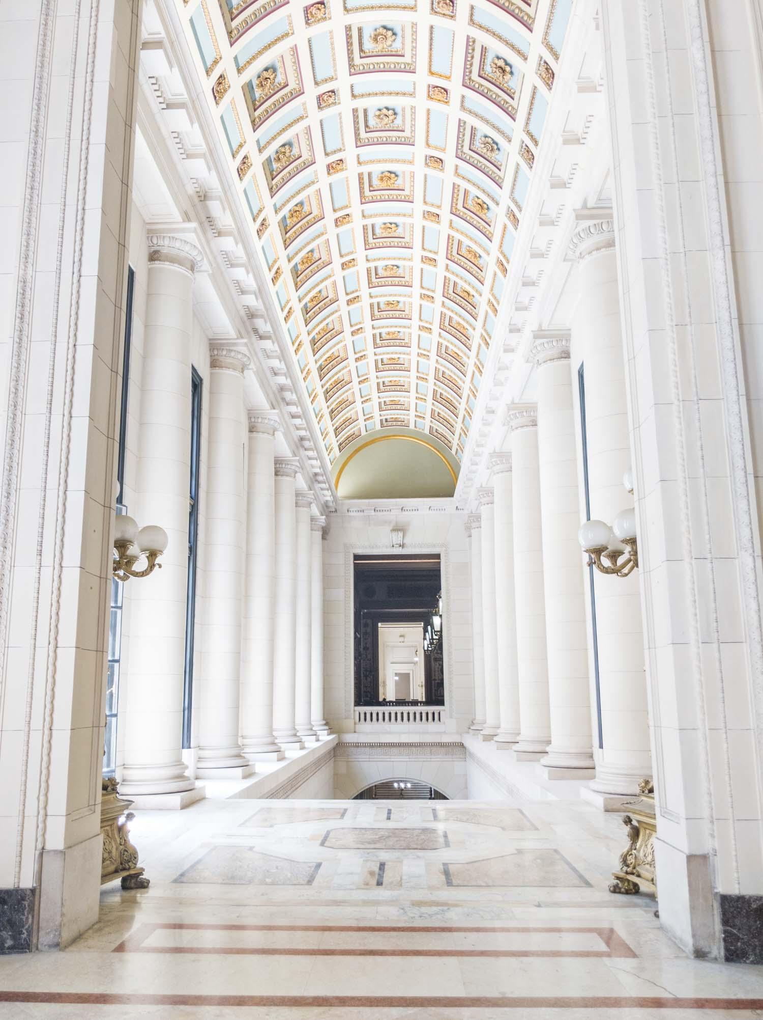 El Capitolio hallway in Havana Cuba