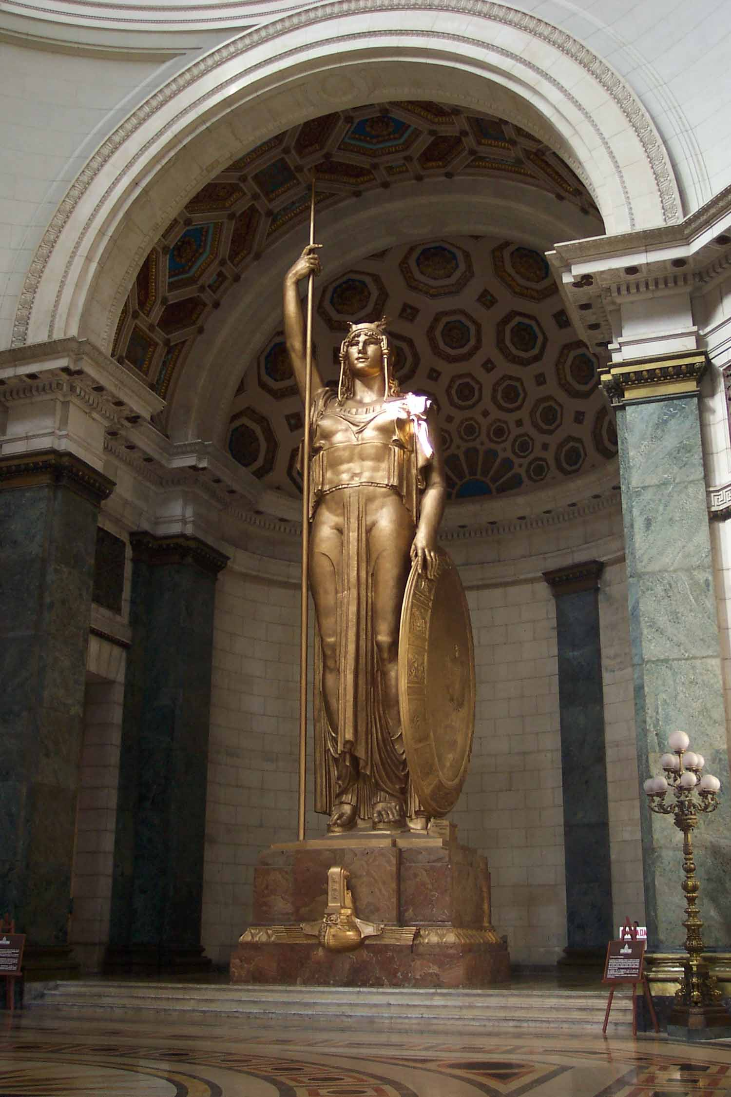 Statue of the Republica at the Capitol building in Havana Cuba