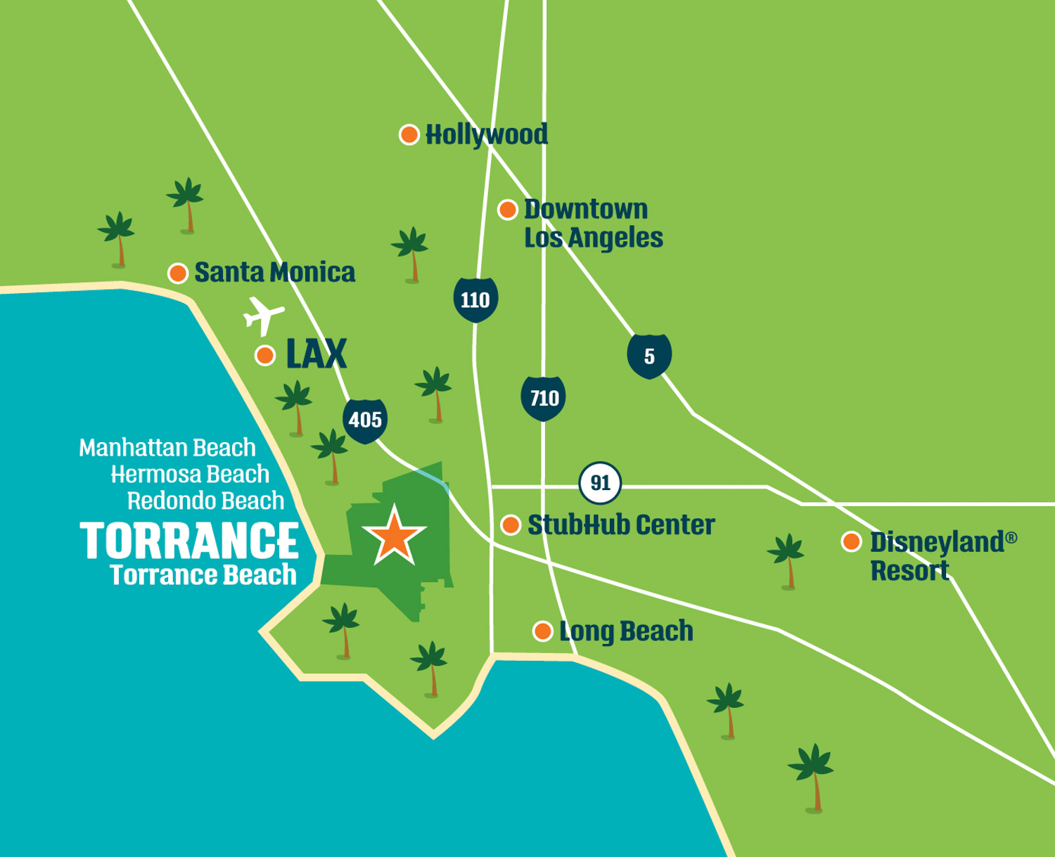 Map of Torrance California