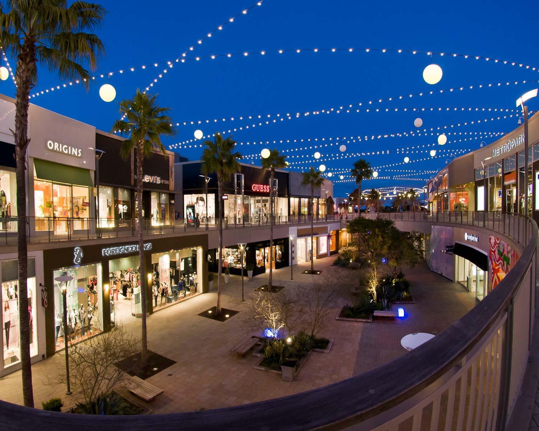 Del Amo Shopping Centre at night in Torrance California