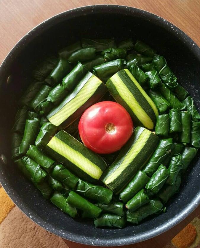 Sarma salad from Bosnia