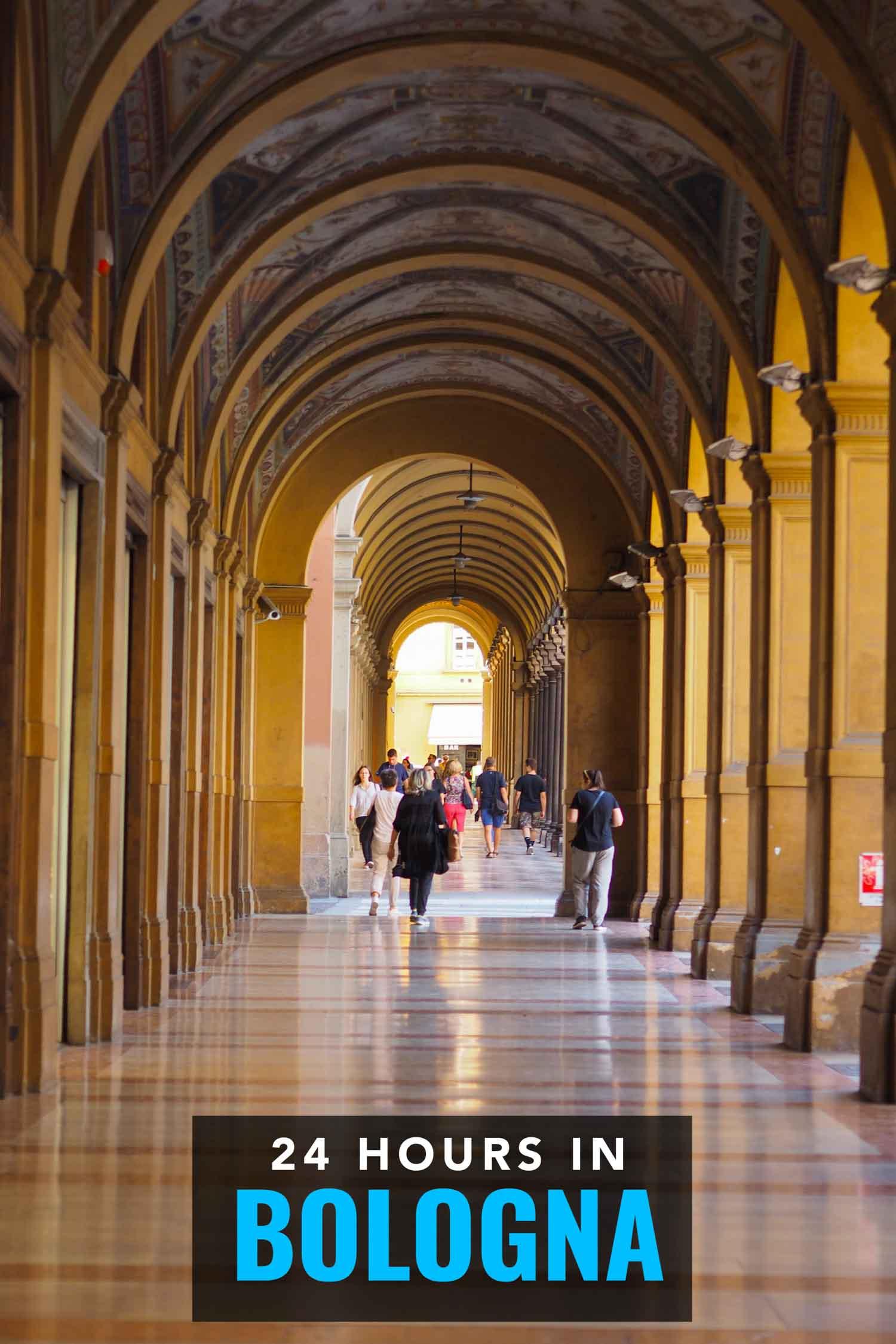 Porticos in Bologna Italy