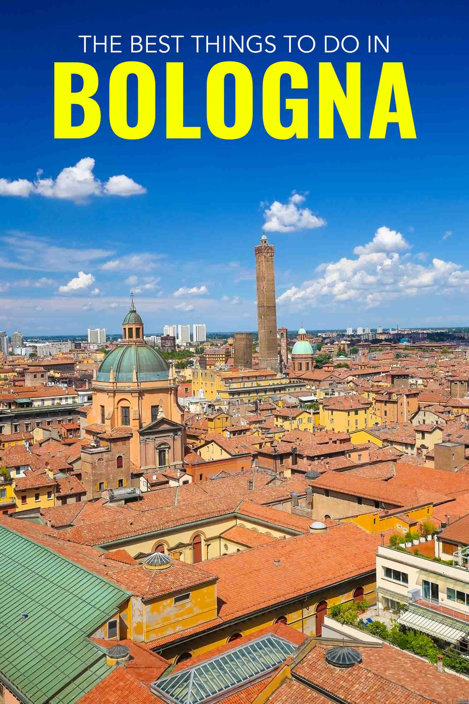 Rooftop view of Bologna Italy