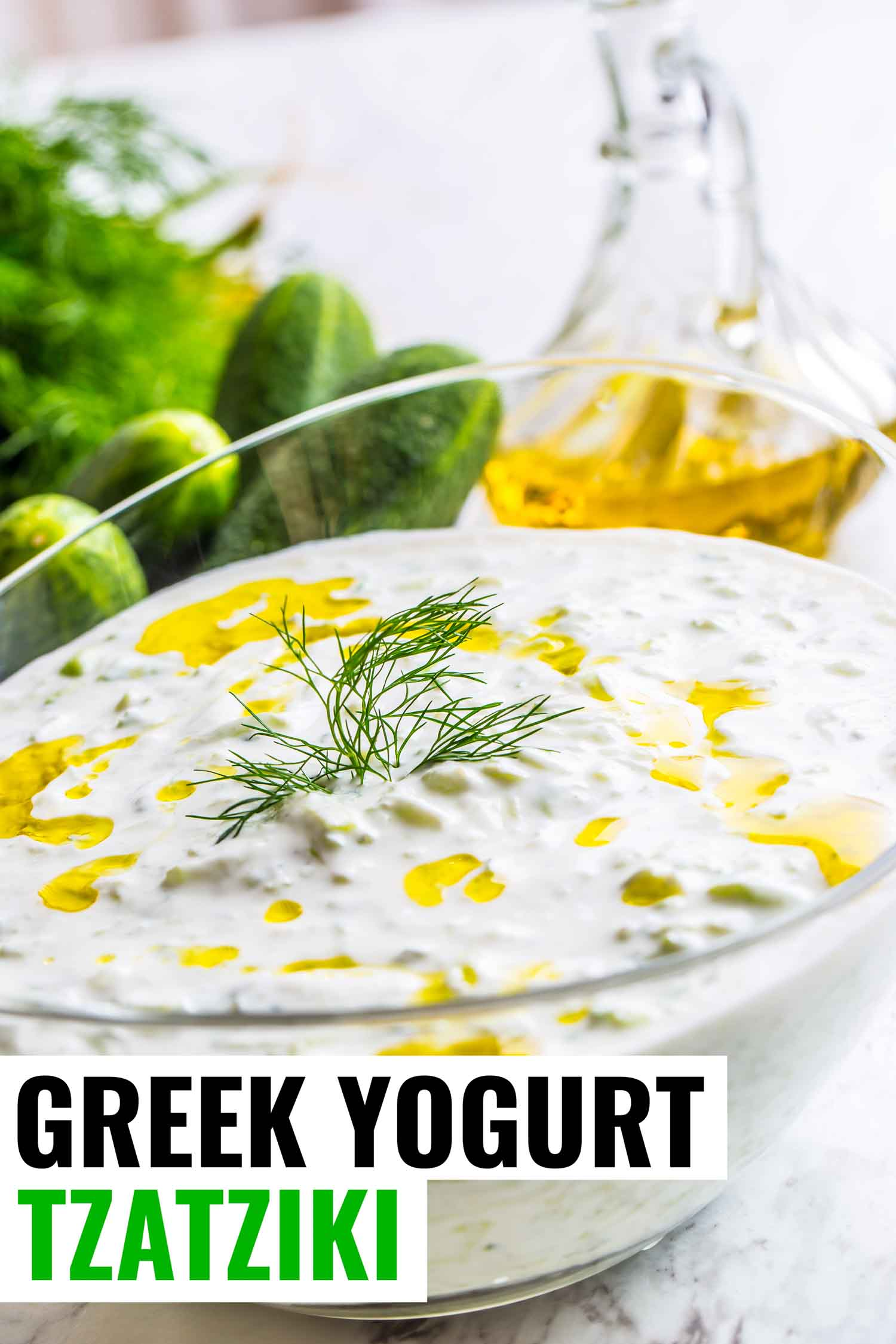 This healthy greek tzatziki recipe using greek yogurt is so easy to make you'll wonder why you ever bought it premade.