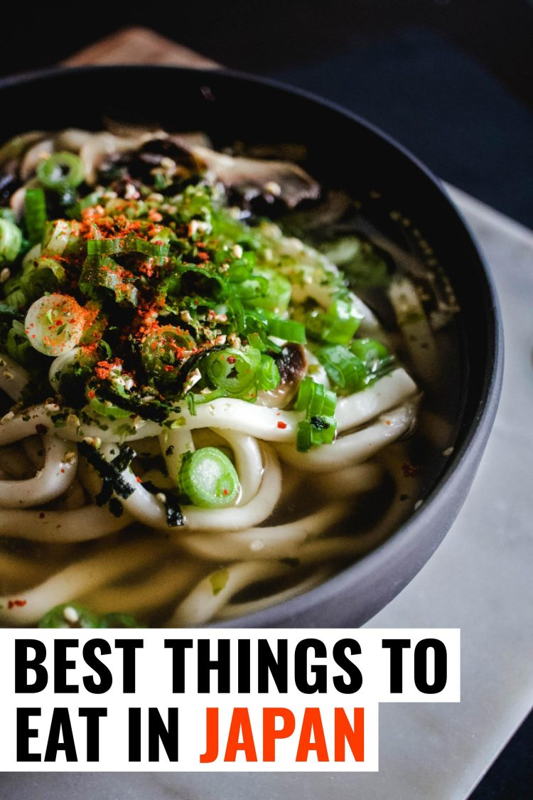 Soba noodles in a blue bowl, a traditional dish in Japanese cuisine