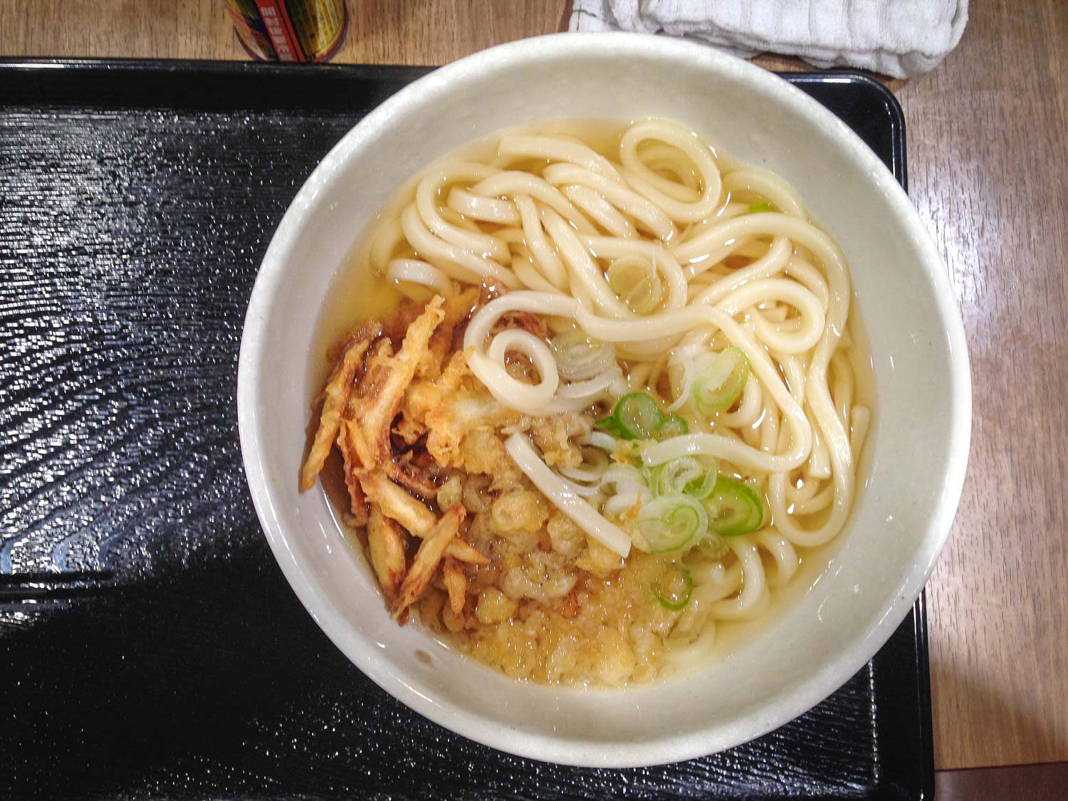 Udon tempura, one of the traditional things to eat in Japan