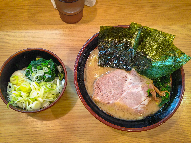 Ramen a popular Japanese food in Japan, in black bowls