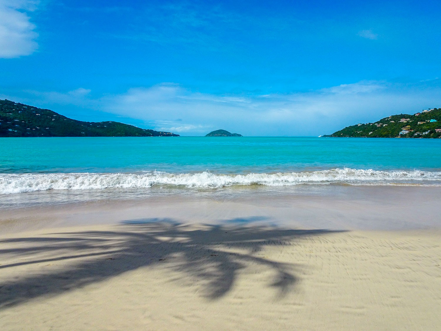 Magens Bay Beach in the US Virgin Islands in the Caribbean