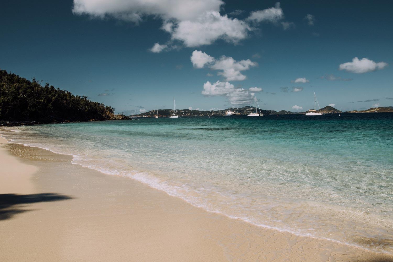 Salomon beach in the US Virgin Islands