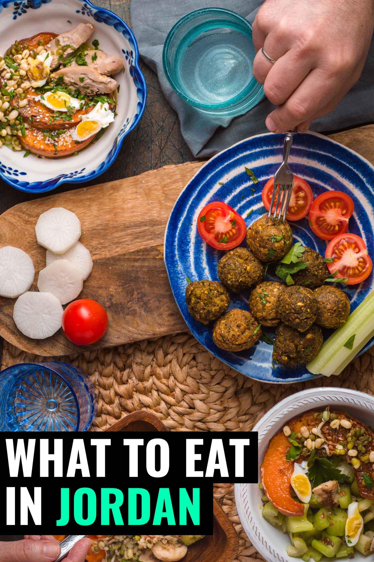 Plates of food in Jordan