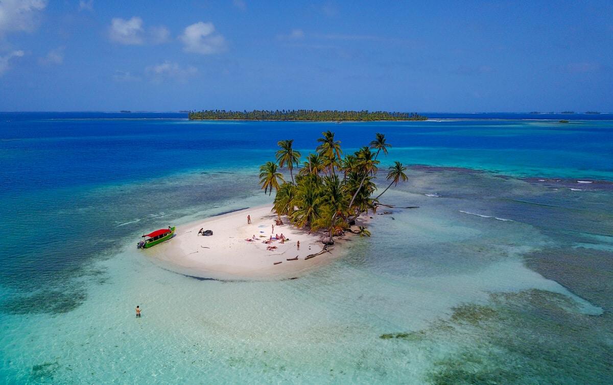 San Blas Islands aerial view