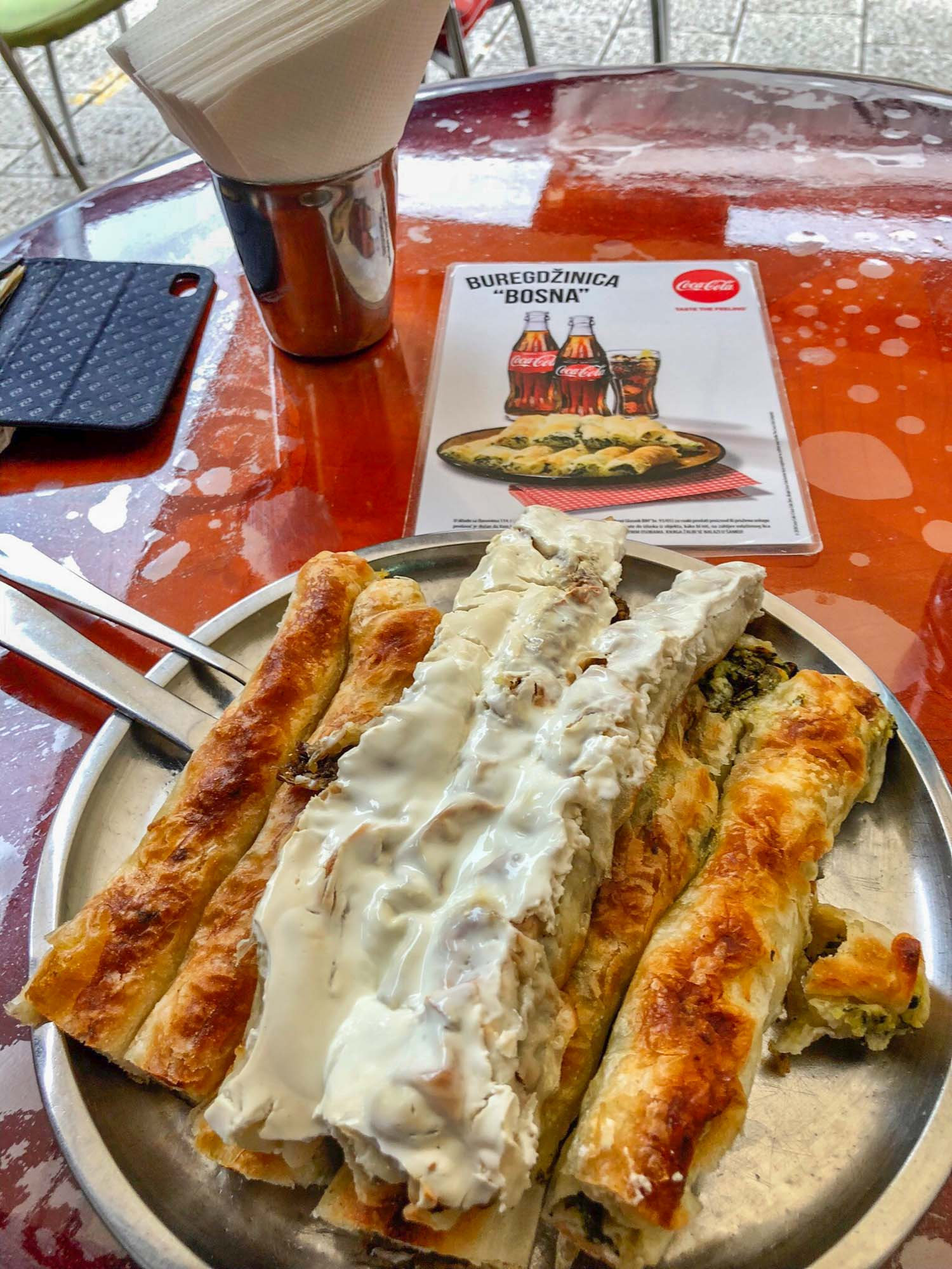 sarajevo food burek on a table