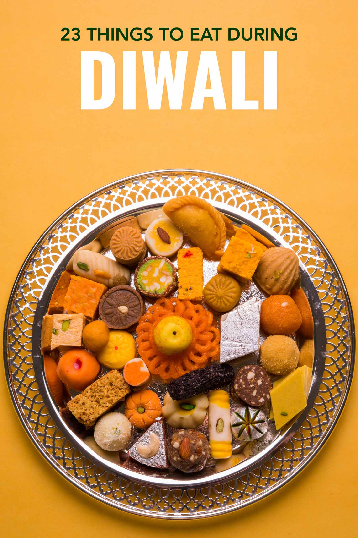 typical Indian sweets at Diwali