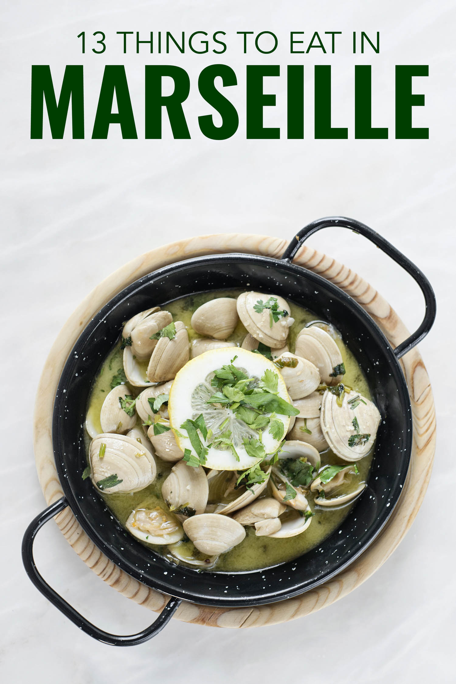 Clams in a pot in Marseille France
