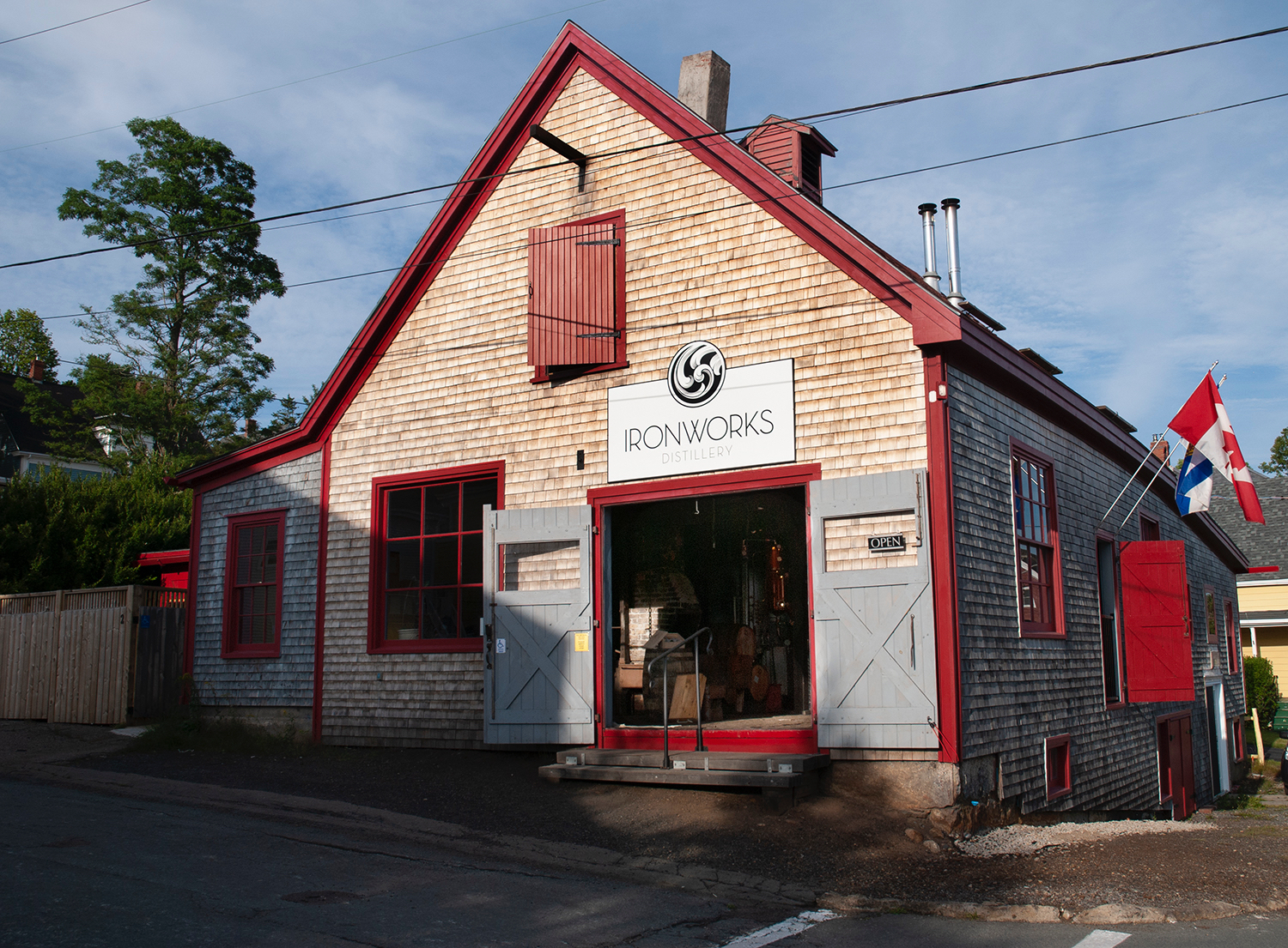 The Ironworks Distillery exterior in Lunenburg Nova Scotia is one of the most popular things to do in Nova Scotia.