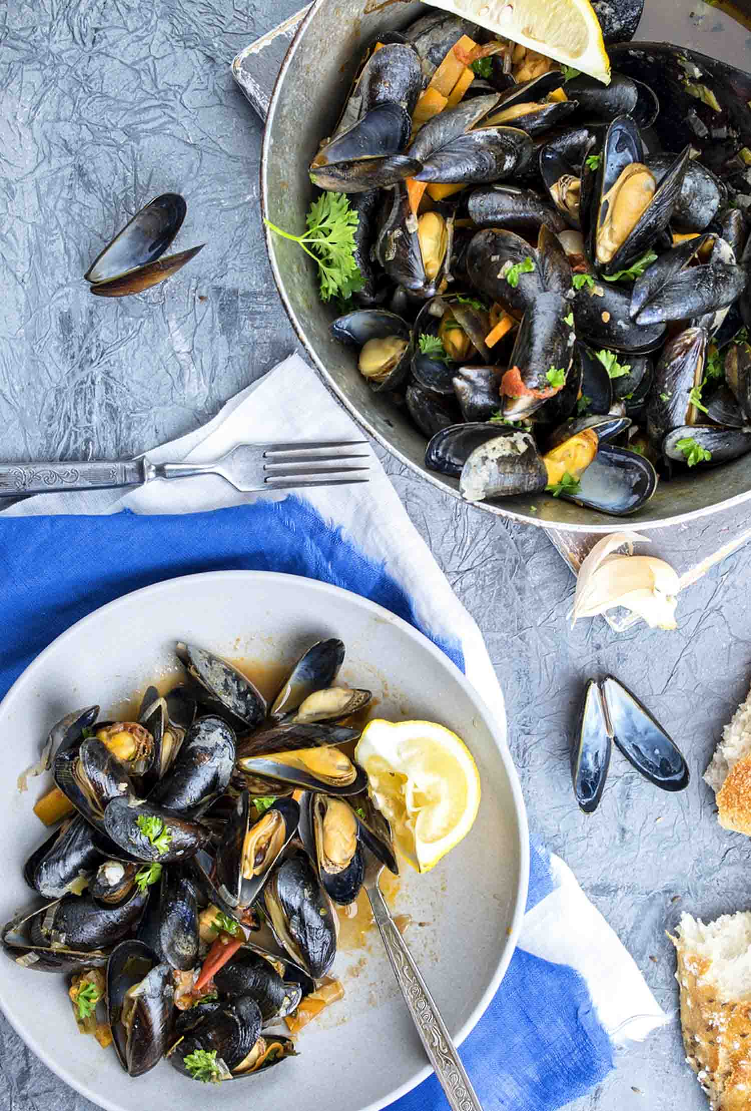 Nova Scotia Mussels on Plate