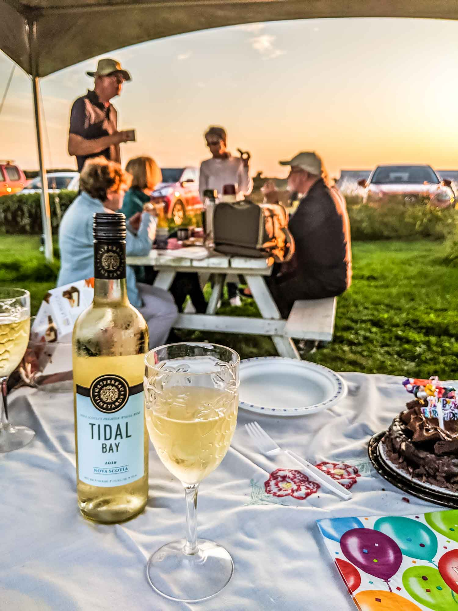 Gaspereau Vineyard Tidal Bay wine