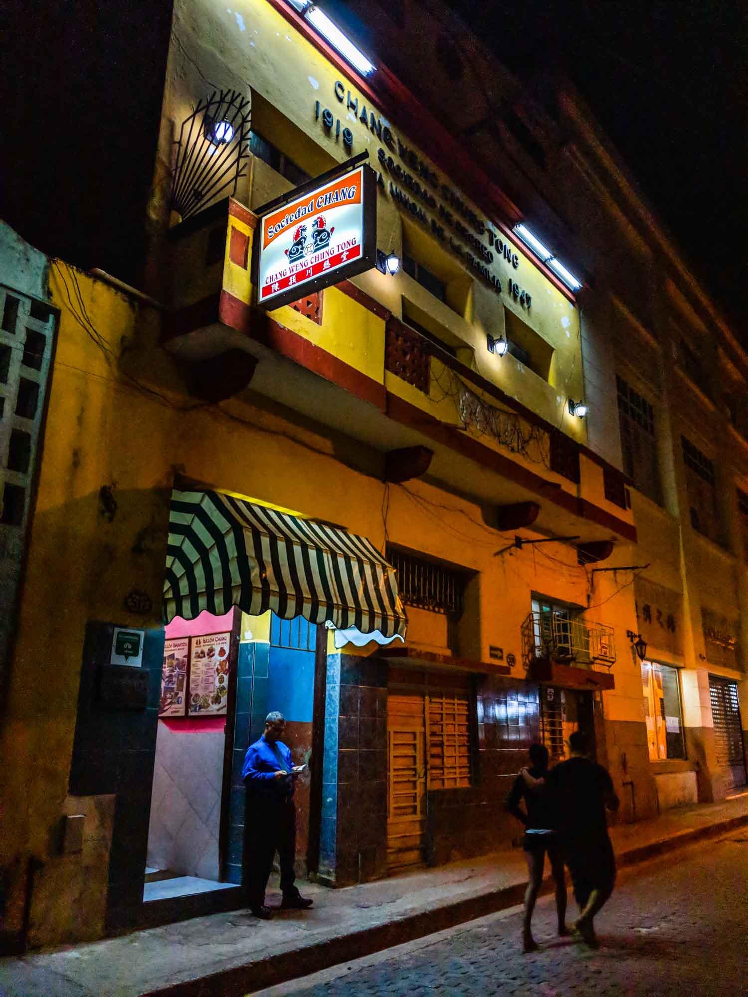 Sociedad Chang restaurant in Havana exterior