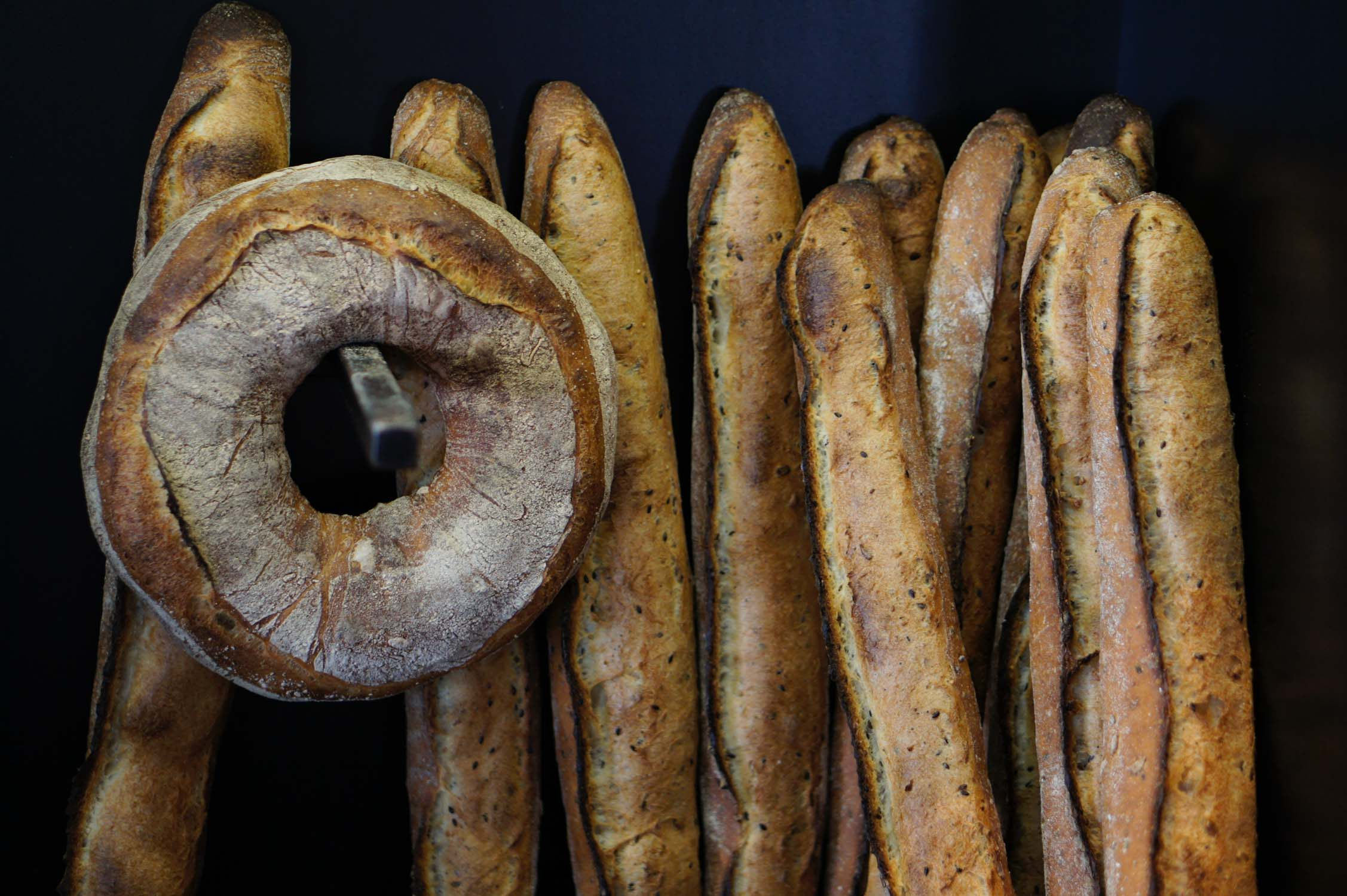 French baguettes, one of the cheapest things to eat in Paris