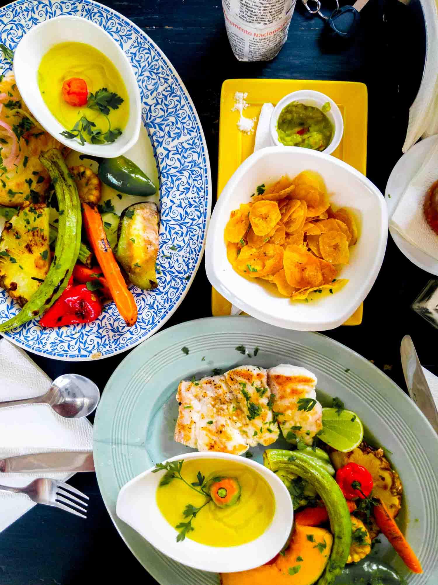 Cuban cuisine at El de Frente restaurant in Havana Cuba