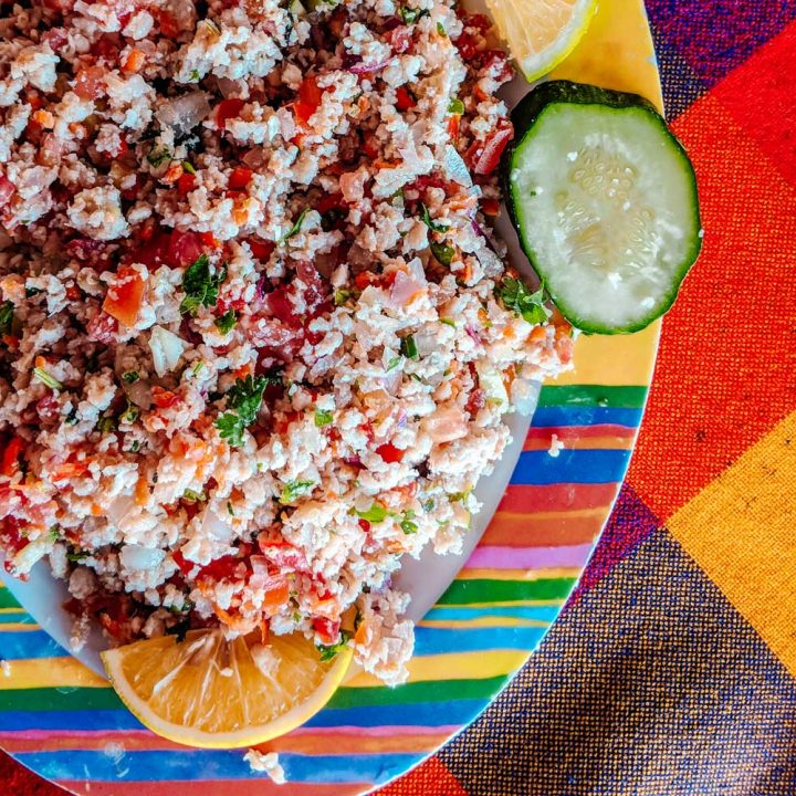 Colima-style Mexican ceviche on a table.