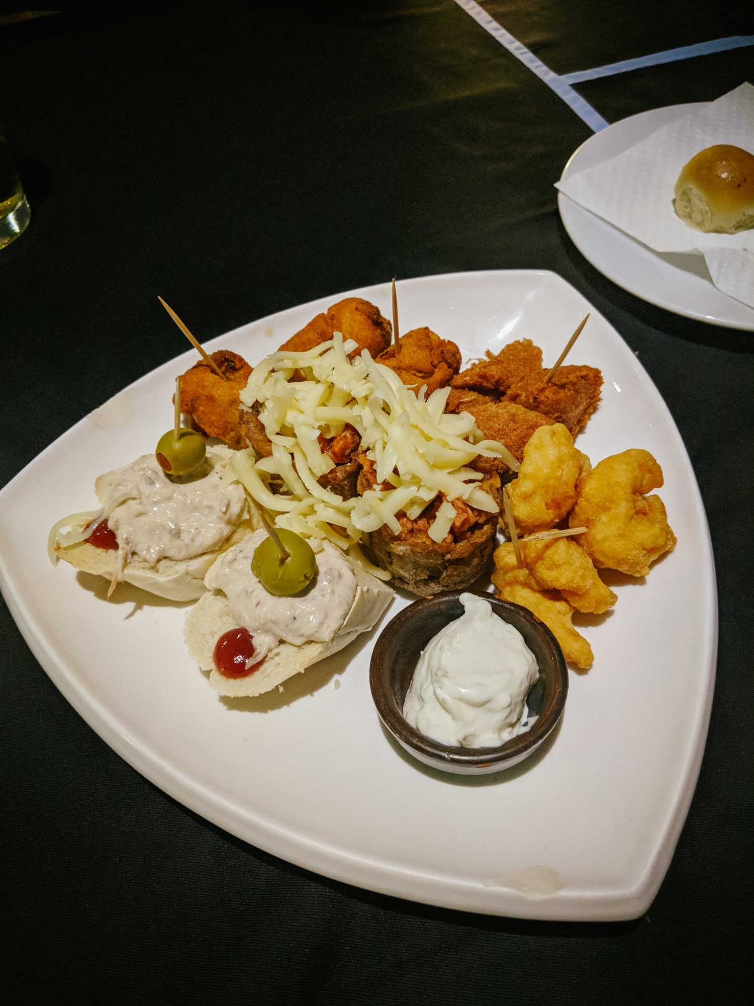 Plate of appetizers at Habana Blues in Vedado, Havana, Cuba