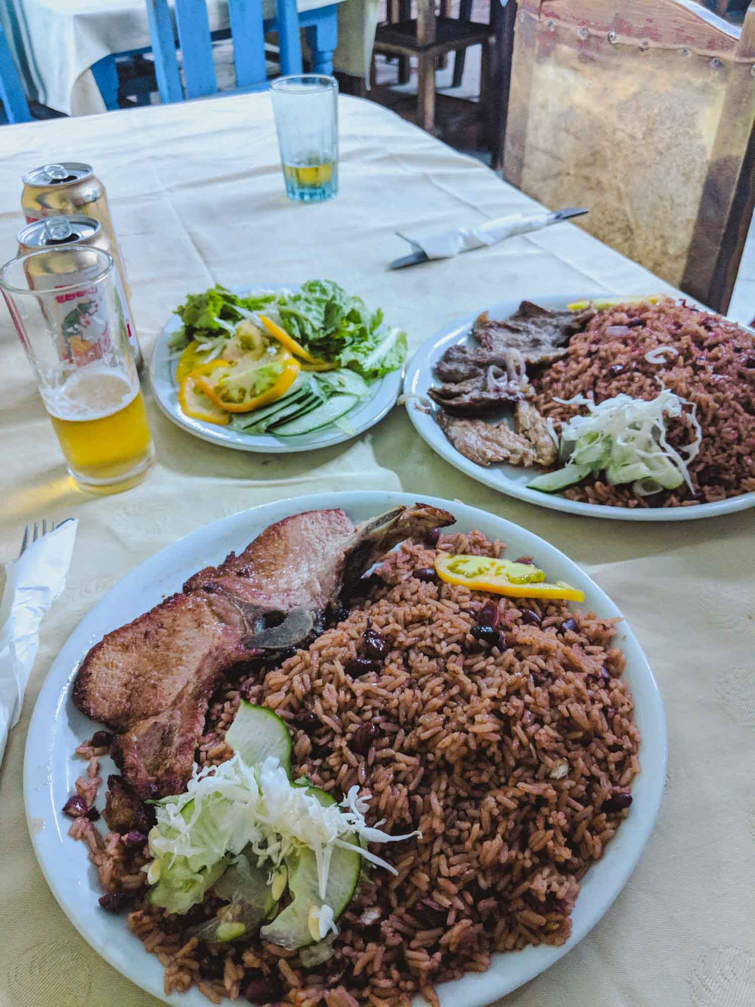 Plate of Cuban food at a paladare restaurant in Cuba