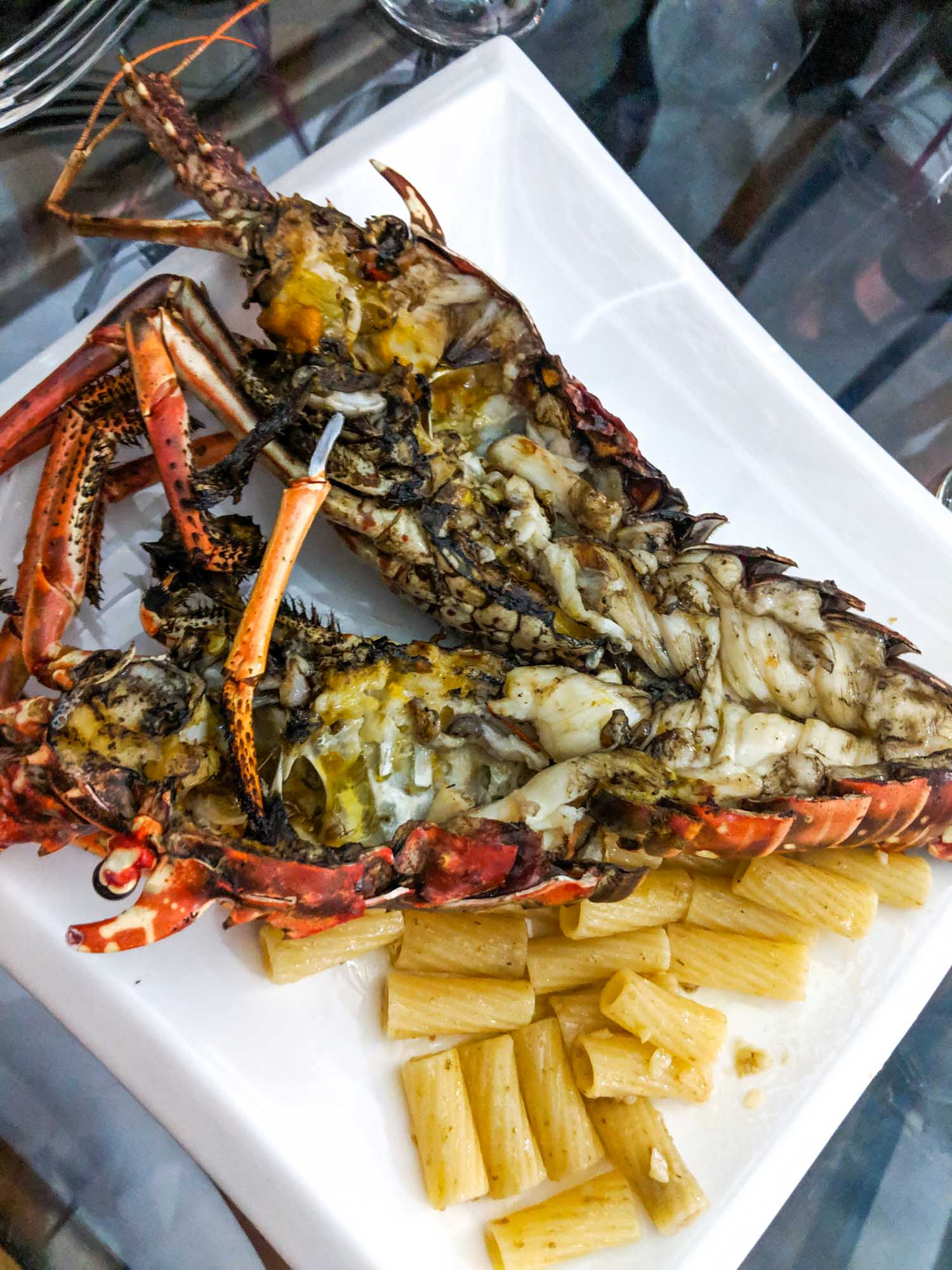 Caribbean lobster served in Varadero Cuba
