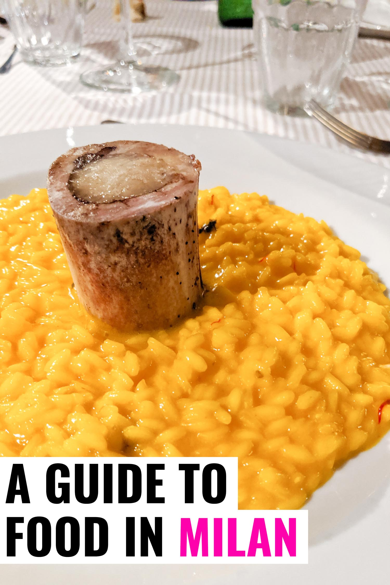 Risotto alla Milanese a traditional food in Milan