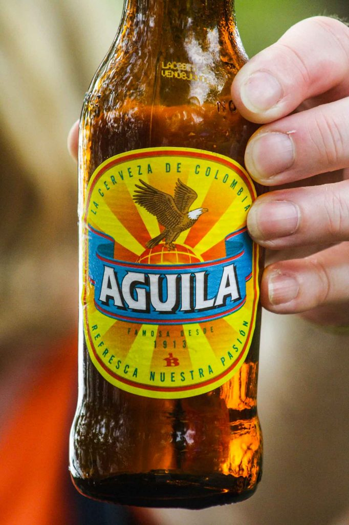 Colombian beer Aguila is one of the most popular drinks in Colombia