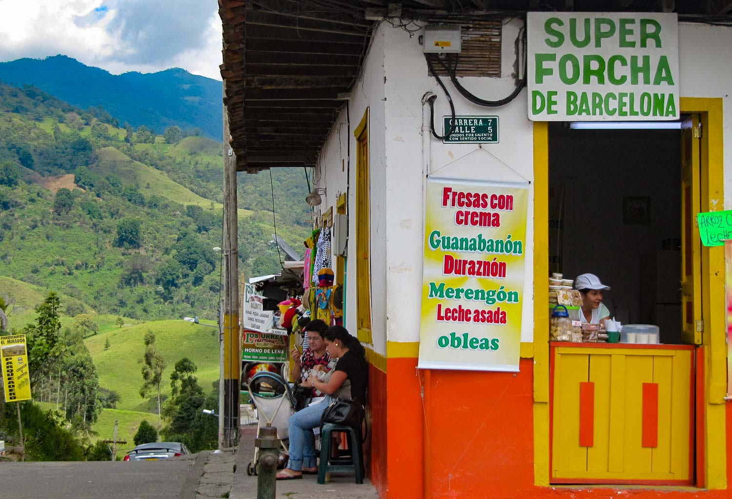 Forcha Colombian drink stall in Salento Colombia