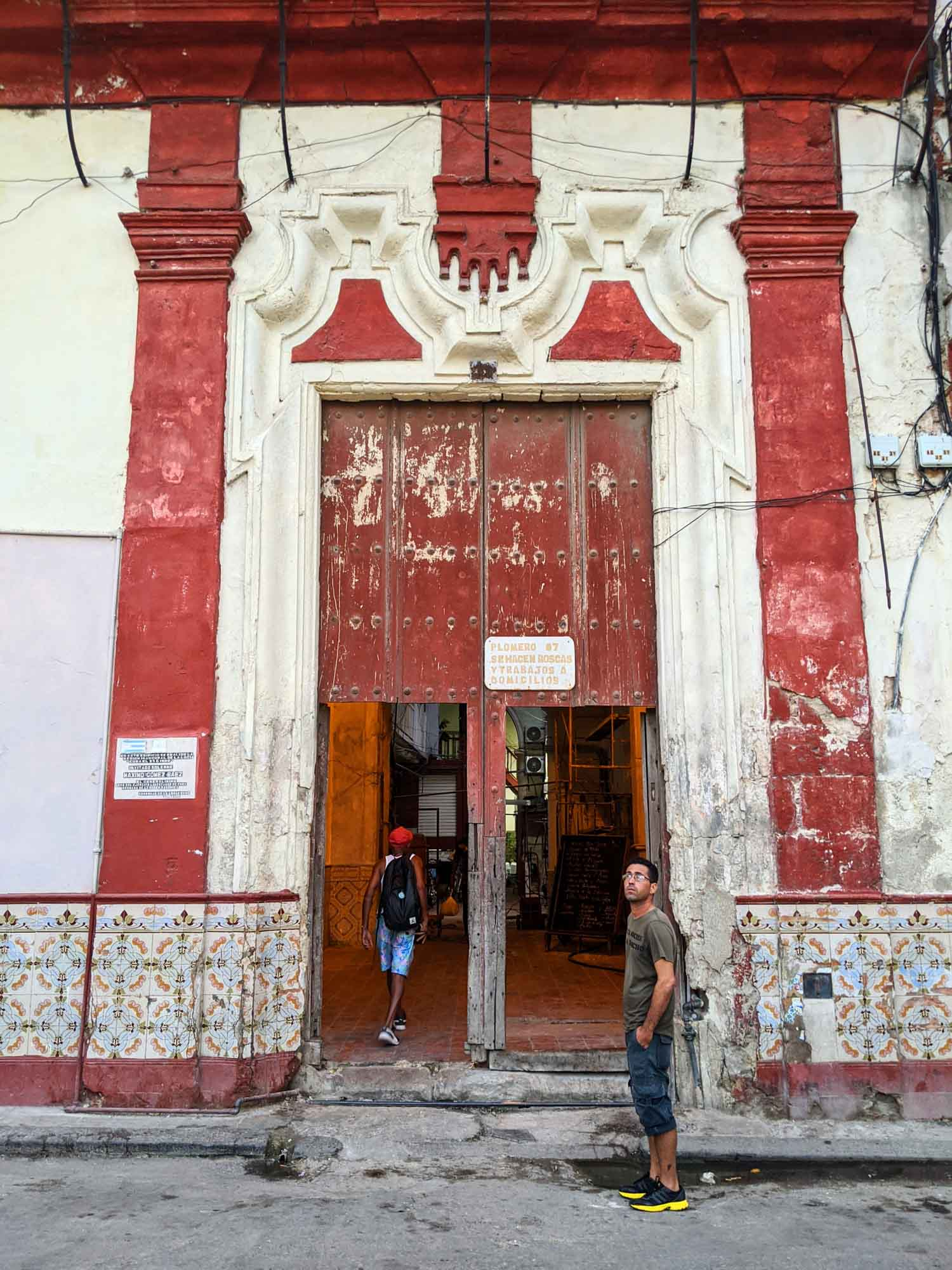 Entrance to Paladar Don Omar, a restaurant in Old Havana