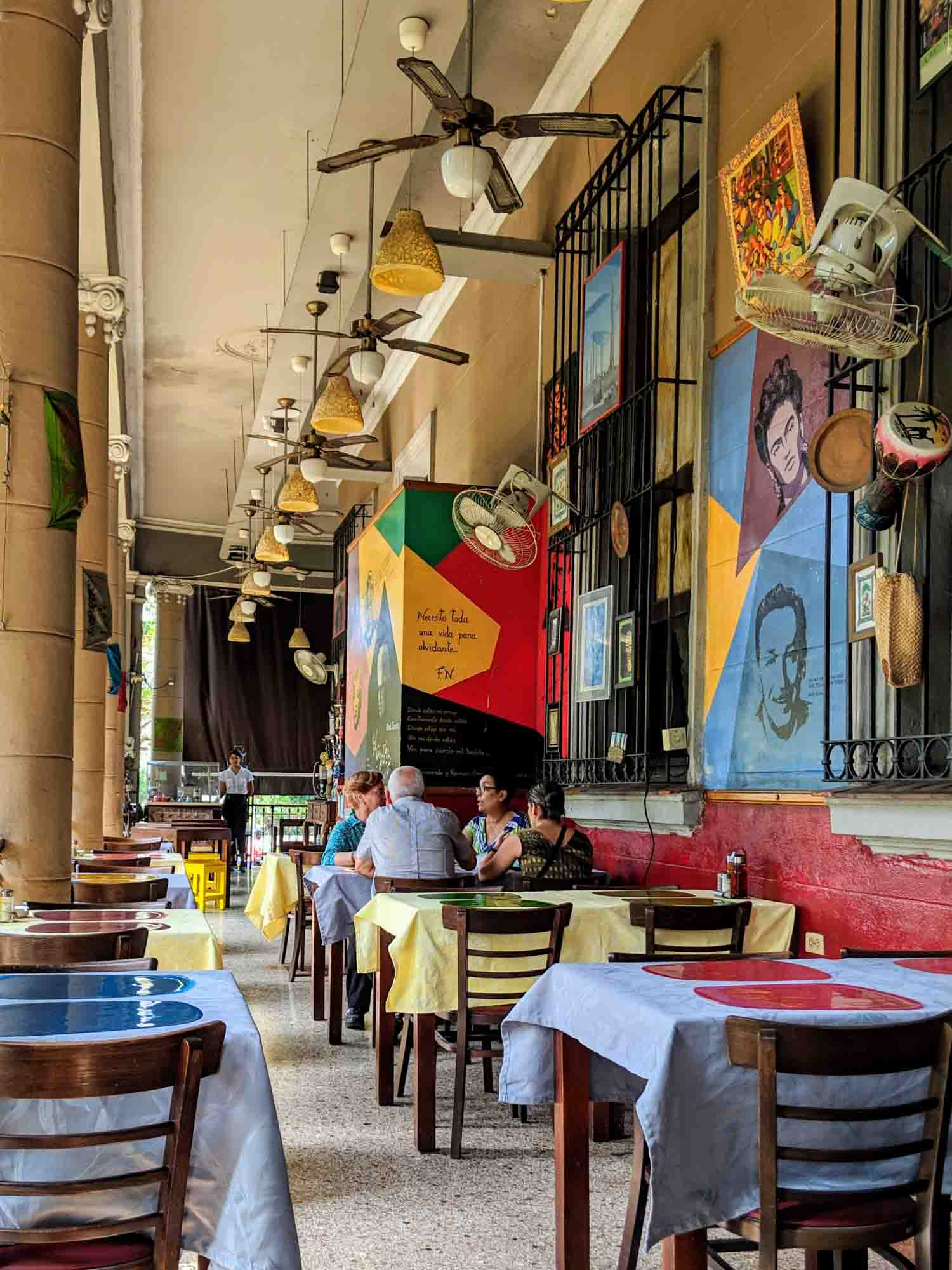 Iranian restaurant Topoly terrace in the Vedado neighbourhood of Havana.