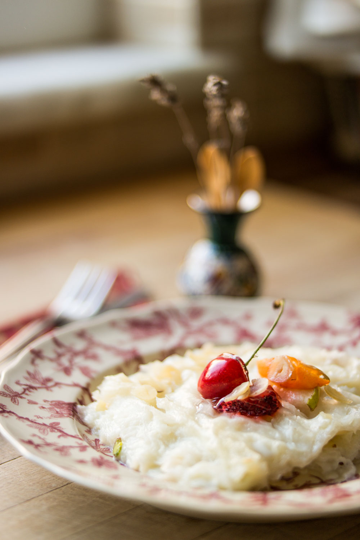 Turkish Traditional Ramadan Dessert Milk Pudding Gullac
