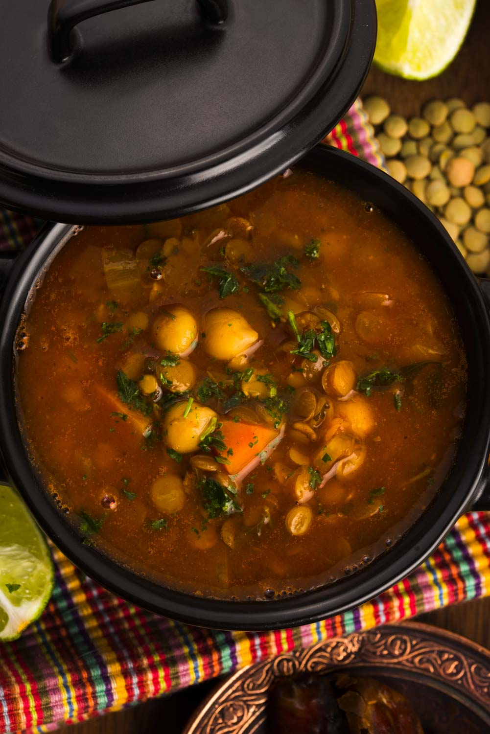 Moroccan traditional soup - harira the traditional Berber soup of Morocco