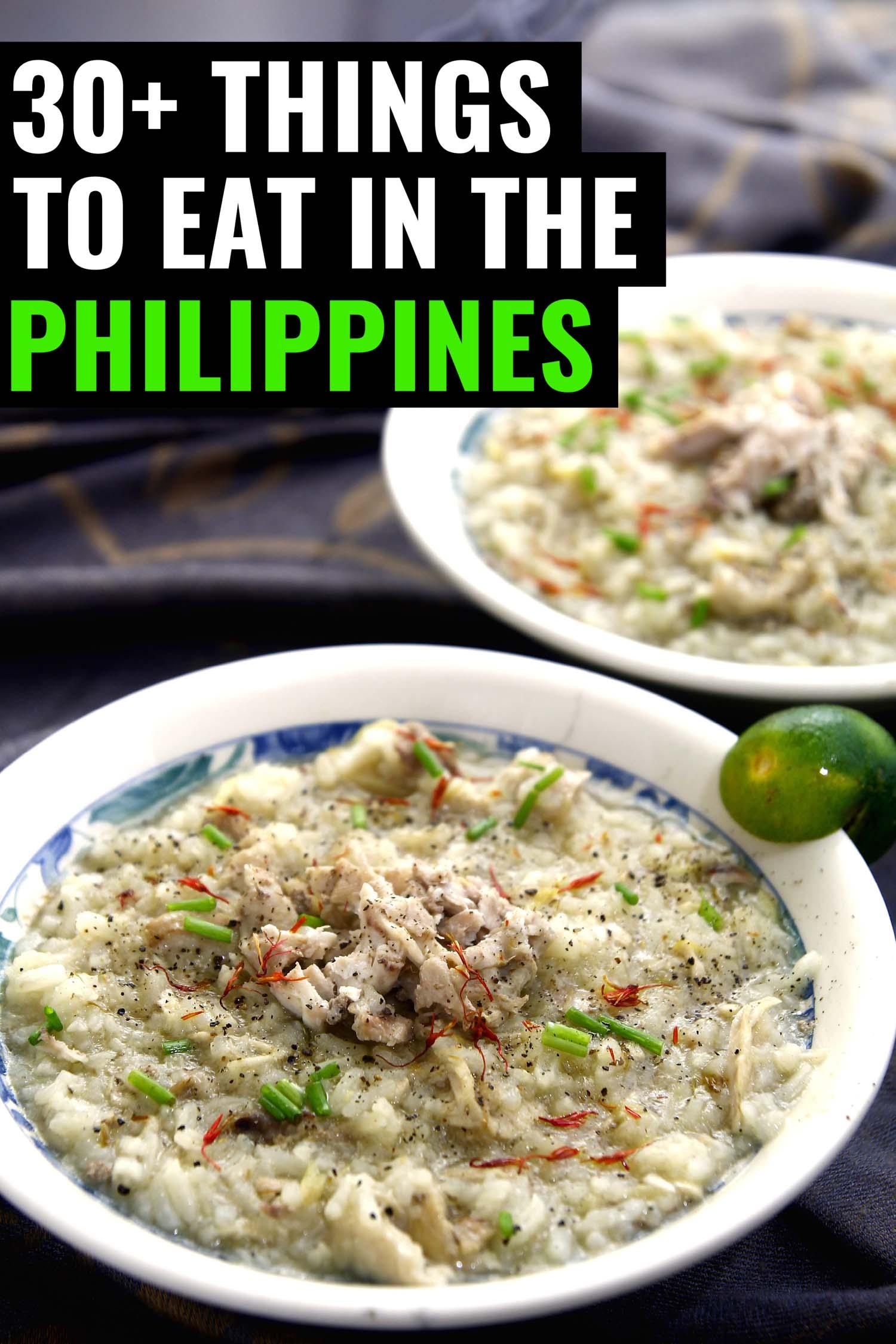 Filipino porridge called arroz caldo