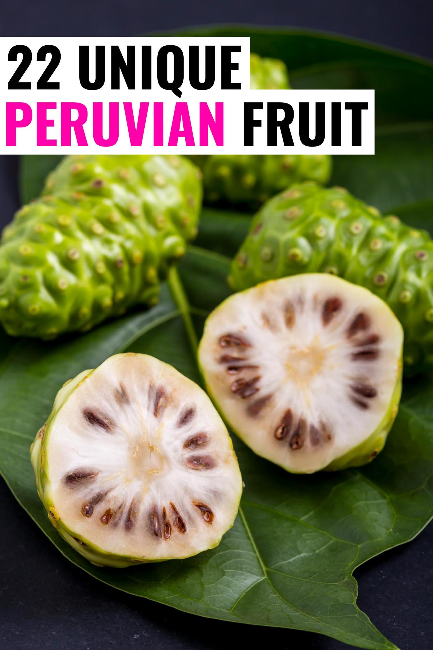 Noni fruit in Peru
