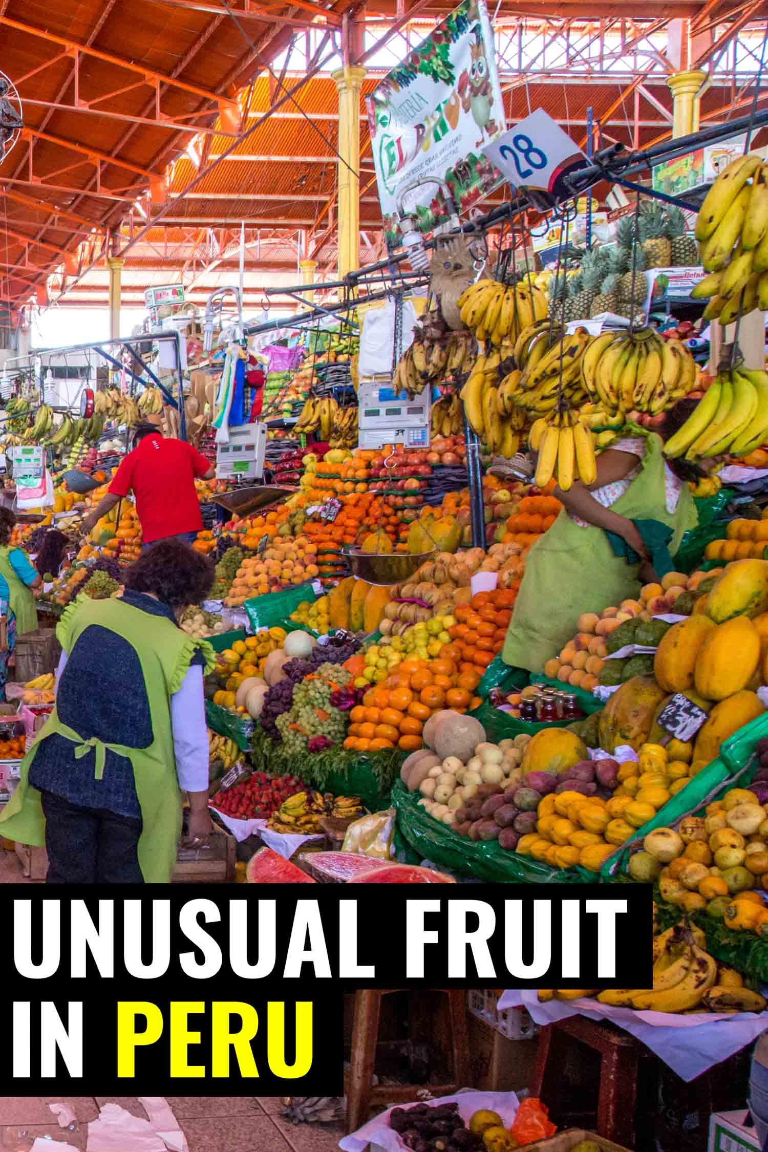 Fruit market in Peru