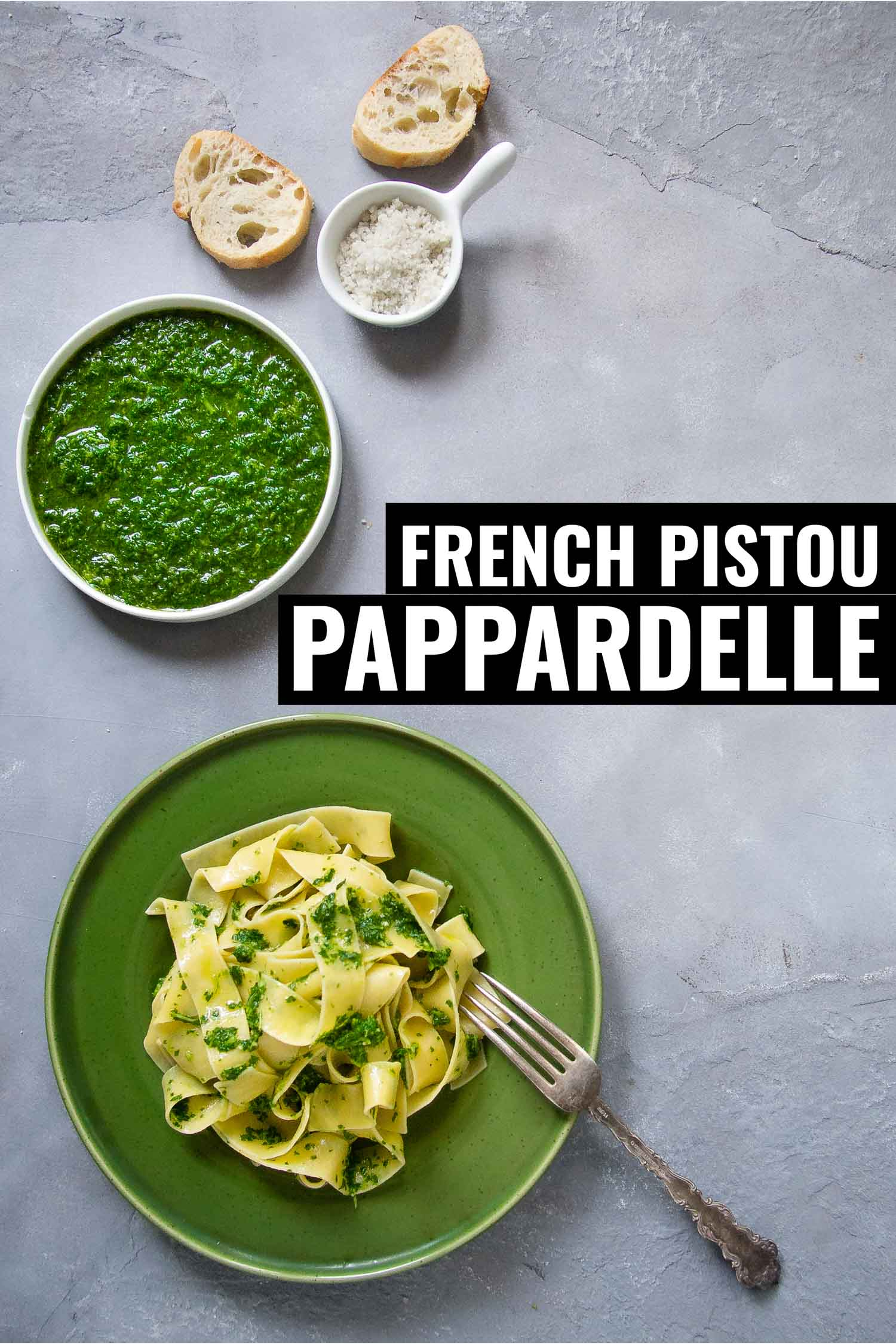 French pistou with pappardelle pasta