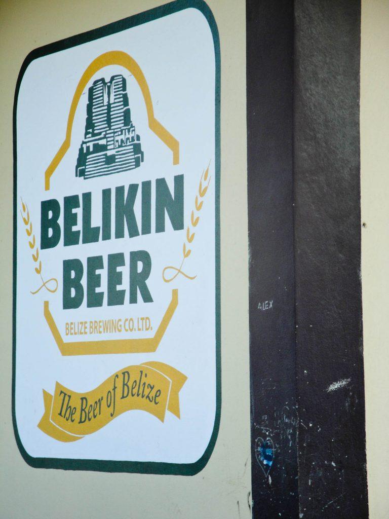 Belikin Beer sign, national beer of Belize