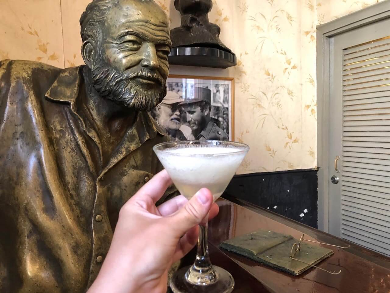 Hemingway daiquiri at La Floridita bar in Havana Cuba