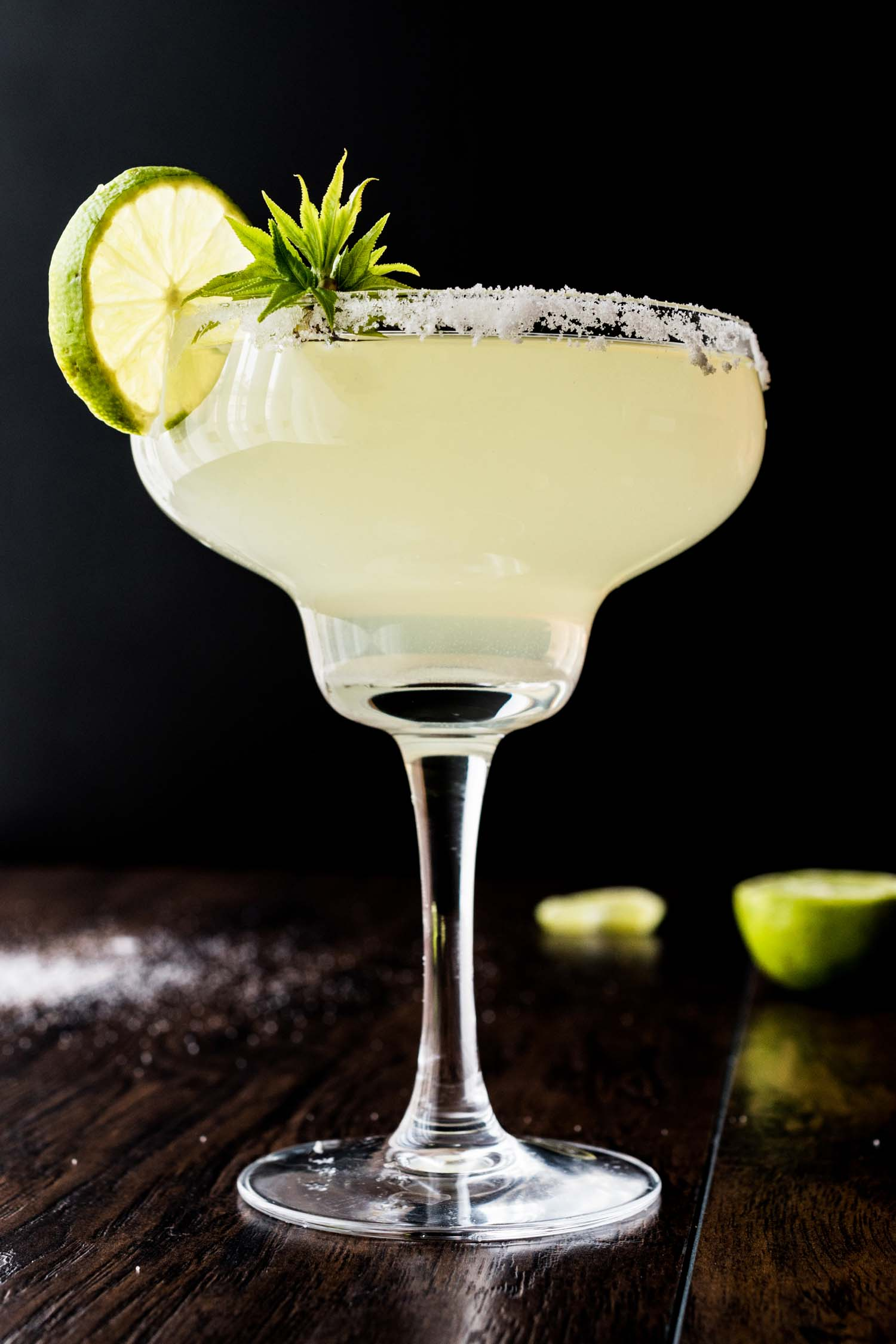 Classic Margarita Cocktail with lime and salt, one of the most popular cocktails around the world